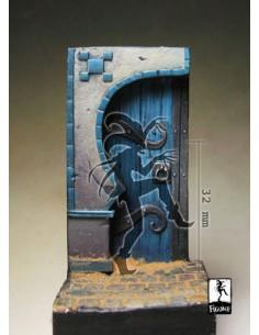 Oriental arch simple with door